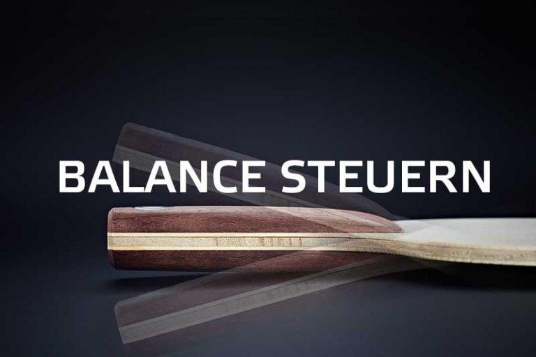 Balance steuern Tischtennisschläger