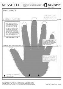 Messhilfe zum Ausdrucken - welche Grifflänge bzw. Griffstärke eignet sich am besten für meine Hand
