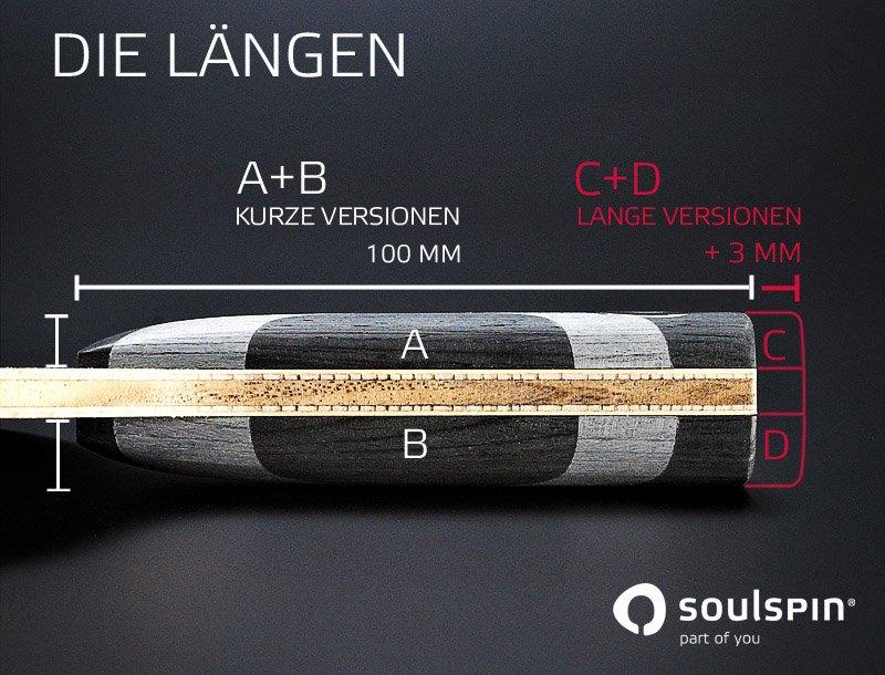 Griffe für Tischtennisschläger in verschiedenen Längen von SOULSPIN