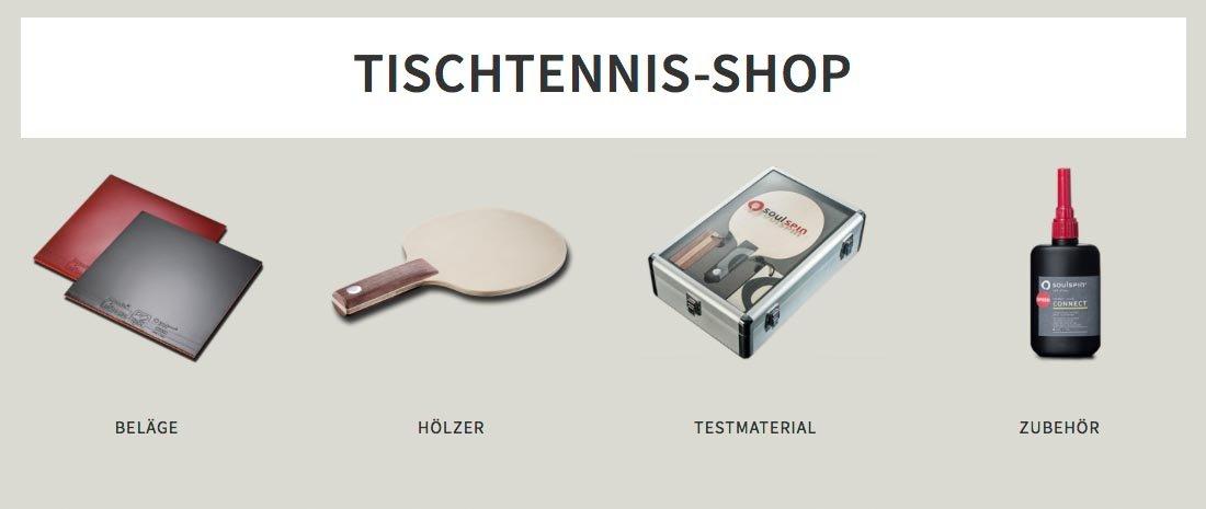 Jetzt Gutschein im Soulspin Tischtennis Shop einlösen