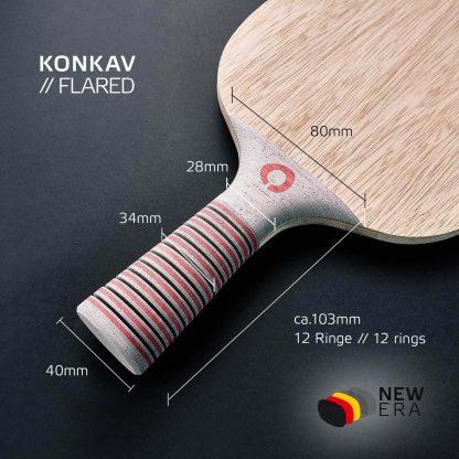 Konkaver Schlägergriff NEW ERA Tischtennis-Holz inkl. Länge und Breite