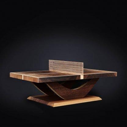Miniatur Tischtennis-Tisch aus Massivholz