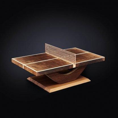 Miniatur Tischtennis Tisch aus Massivholz