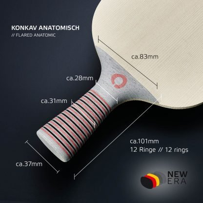 Tischtennisschläger NEW ERA konkav anatomisch