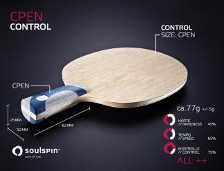 Chinese Penholder handmade table tennis blade by SOULSPIN