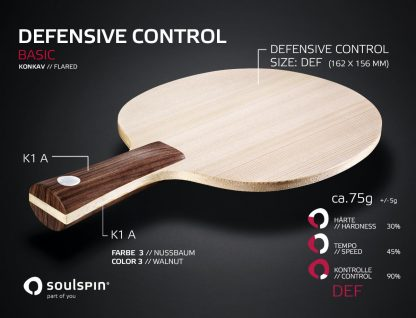 Defensive blade for defensive players with concave handle