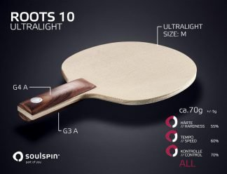 ROOTS 10 Ultralight Very light table tennis blade with low weight from SOULSPIN