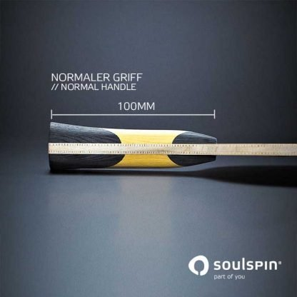 Seitenansicht der Griffform am Tischtennisholz Soulspin Roots 2 Medium Speed