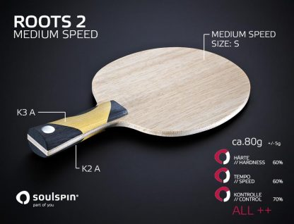 The all-round blade Medium Speed Roots 2 and its playing characteristics