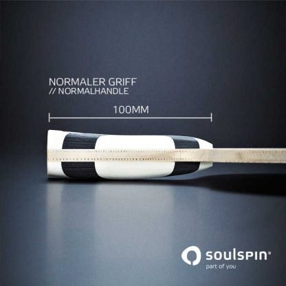Sideview of the special racket handle of table tennis blade Roots 3 Spin Offensive