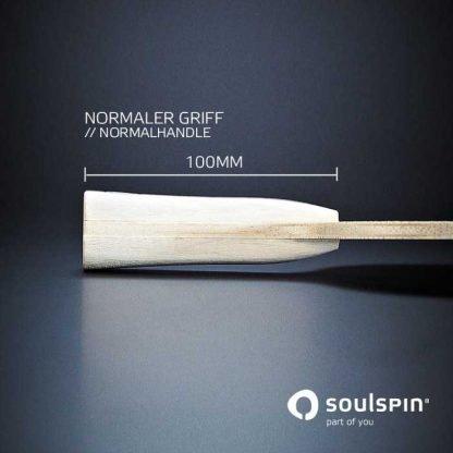 Der spezielle Schlägergriff am Tischtennisschläger Roots 5 für besonders sicheren Halt