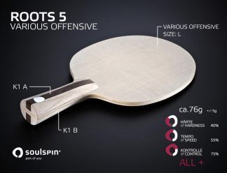 The table tennis blade Roots 5 for all-round players and its features
