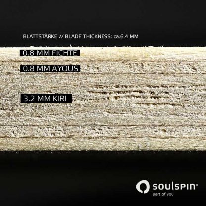 Cross section of the table tennis blade Various Offensive by Soulspin