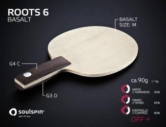 Tischtennis Testholz Basalt von SOULSPIN kostenlos testen