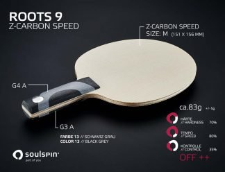 Test our hardest and fastest table tennis blade Zylon-Carbon Speed made in Germany