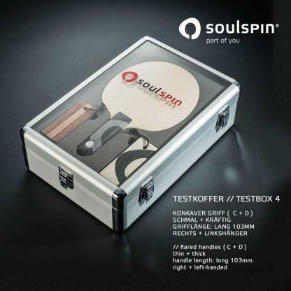 Testkoffer 4 zum Testen von konkaven Schlägergriffen im Tischtennis-Shop von Soulspin bestellen
